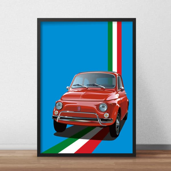Fiat 500 Car Poster