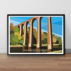 Leaderfoot Viaduct Travel Poster